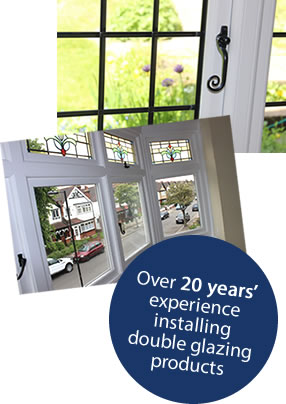 20 years' experience installing double glazing