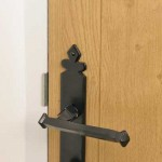 Composite Wood Texture Door and Traditional Steel Handle