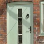 Composite Green Wood Effect Entrance Door