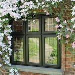 Black casement windows