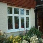 Flush leaded casement windows