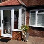Leaded porch casement windows