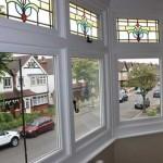 Stain glass casement windows