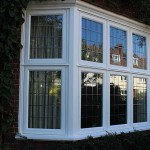 Flush timber casement bay windows