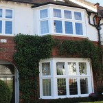 Flush timber casement bay windows