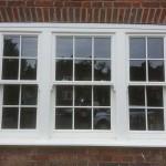 White box sash windows