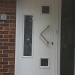 White Composite Door with Bar handle