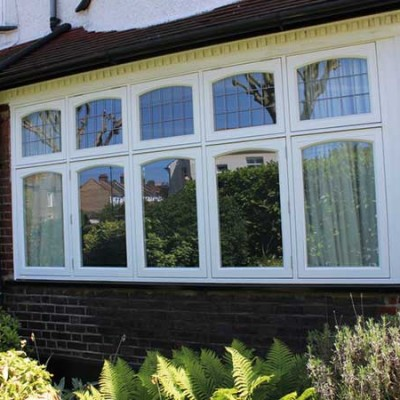White front casement windows